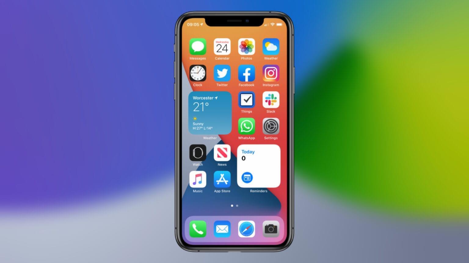 come aggiungere widgets su iPhone