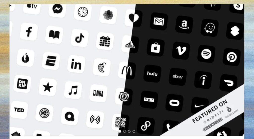 icone in bianco e nero