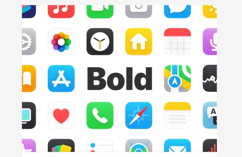 icone stile bold