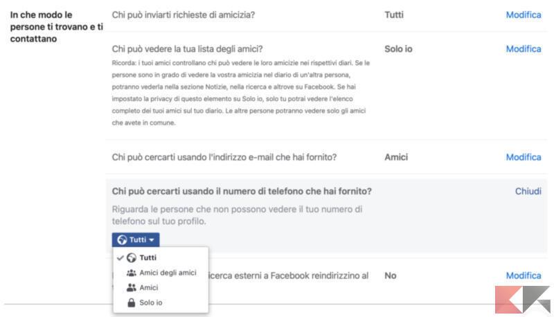 Come non farsi trovare nelle ricerche Facebook 2