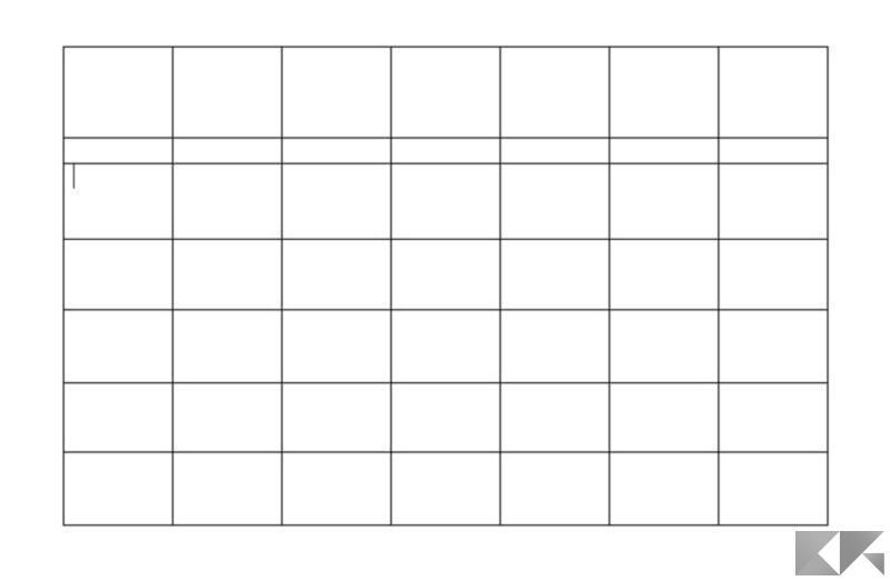 Come creare un calendario in Microsoft Word 4
