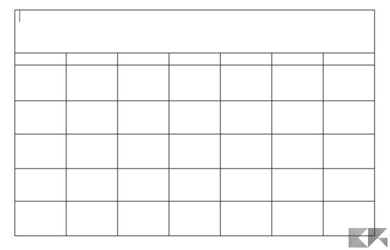 Come creare un calendario in Microsoft Word 5