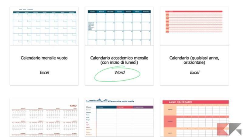 Come creare un calendario in Microsoft Word 8