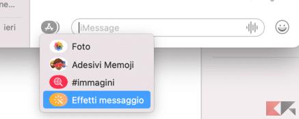 Come inviare effetti su iMessage con iPhone, iPad e Mac 3