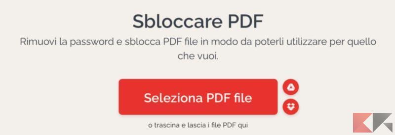 Come sbloccare pdf protetto da password 1