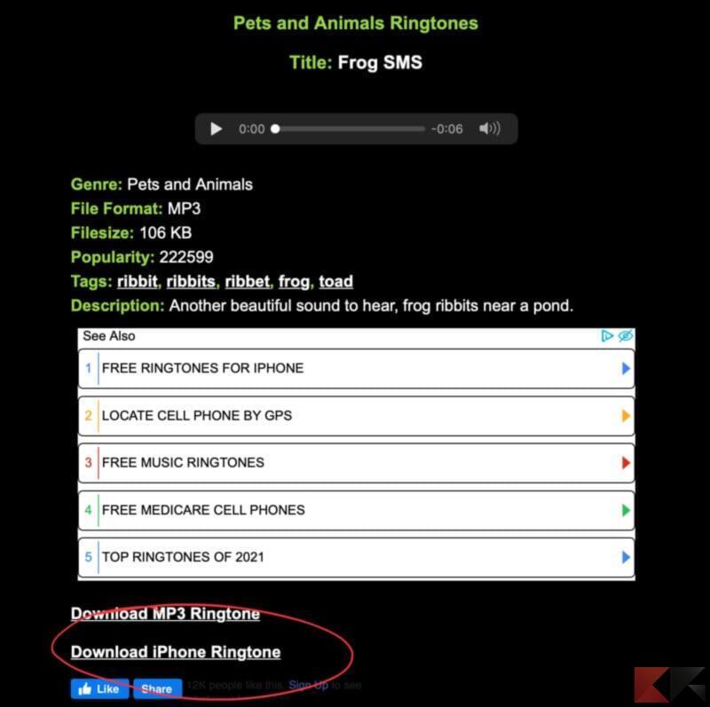 Come e dove scaricare suonerie iPhone 2