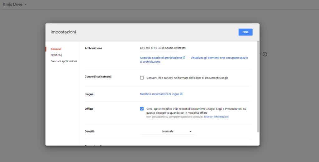 convertire file con Google Drive