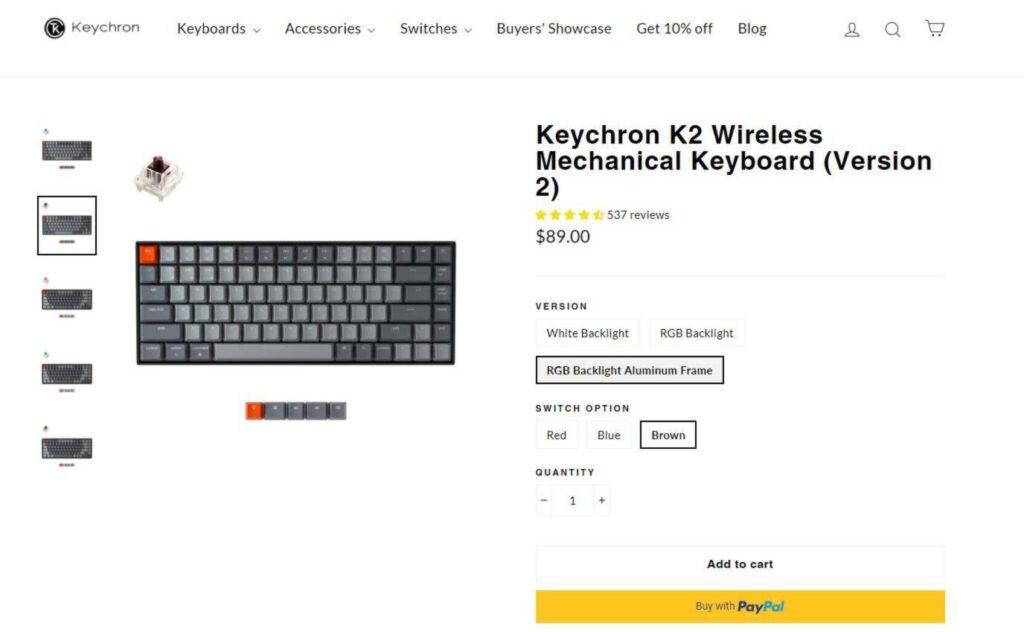 keychron sito