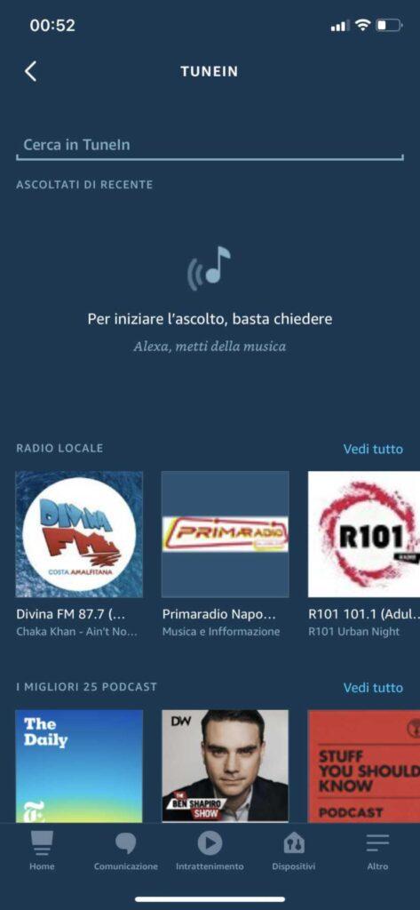 stazioni radio alexa