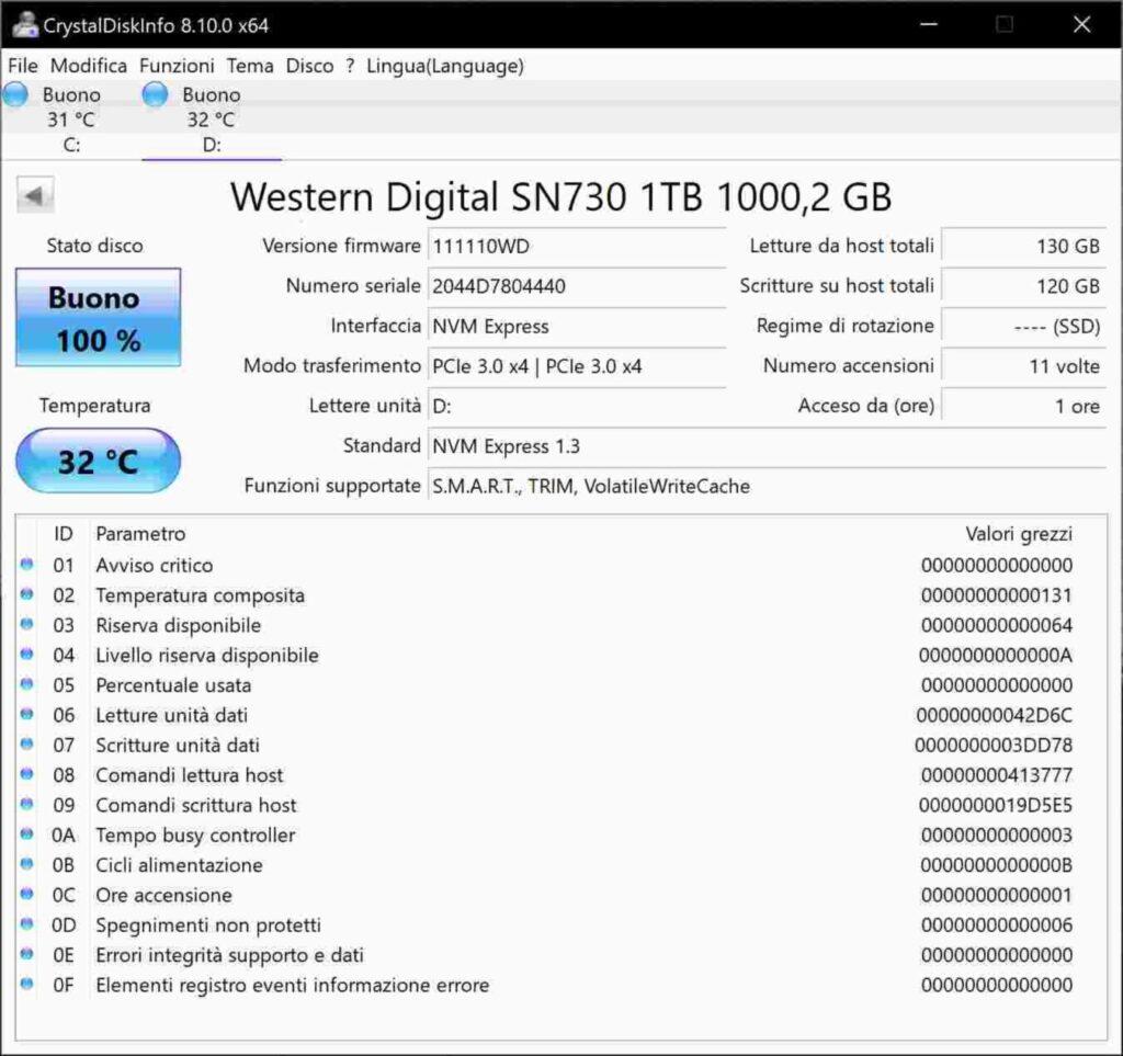 CrystalDisk Info D50