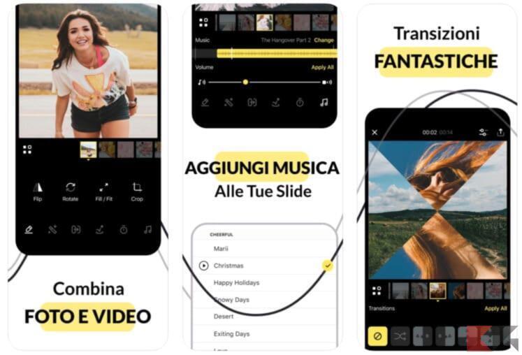 Slide Transition: Foto e Video