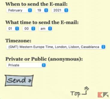 Come mandare mail nel futuro, a sé stessi o altri 2