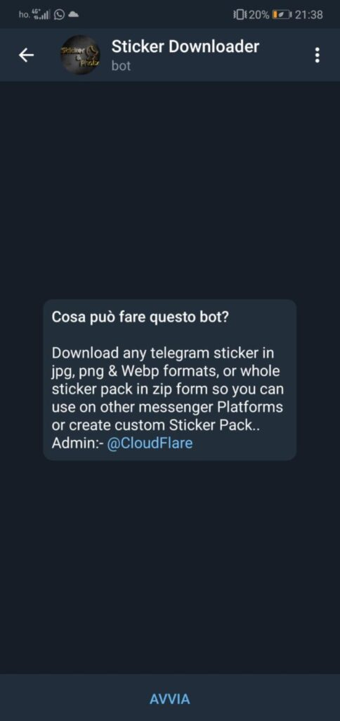 bot sticker telegram android
