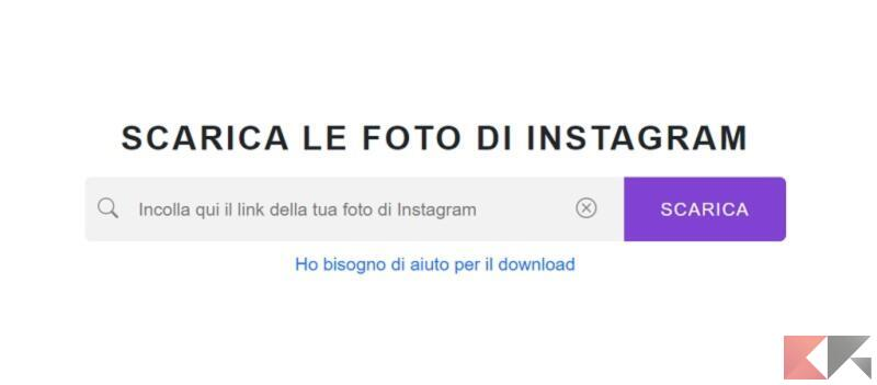 gramvio scaricare foto da instagram