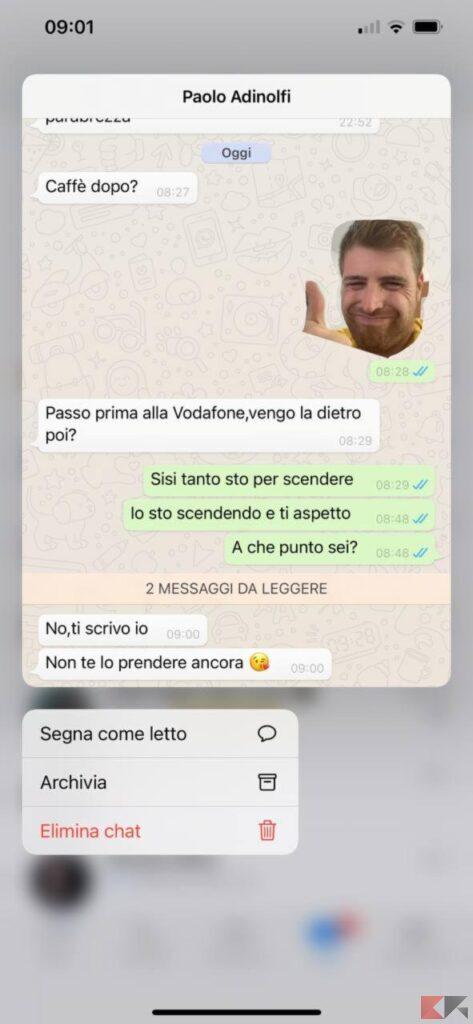 Come leggere messaggi WhatsApp senza visualizzare su iPhone 1