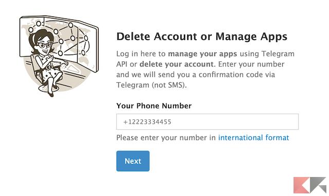 Come cancellarsi da Telegram 3