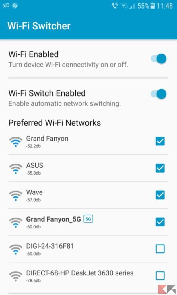 Come cambiare rete Wi-Fi in base alla potenza di segnale 1