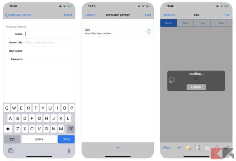 Come accedere alle risorse di rete da iPhone e iPad 2