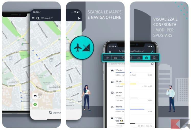 Miglior Navigatore e mappe offline per iPhone 1