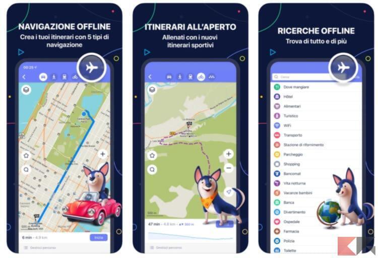 Miglior Navigatore e mappe offline per iPhone 2