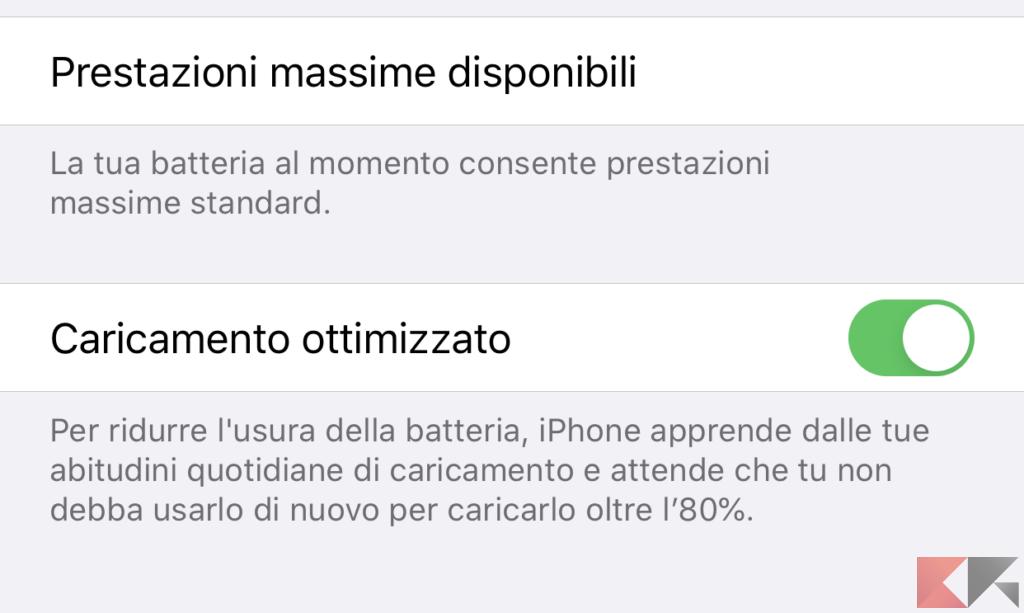 Aumentare la durata batteria iPhone 9