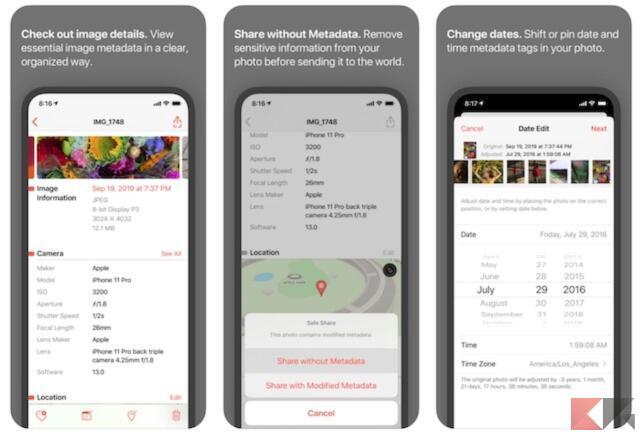 Come cambiare data alle foto su iPhone 1