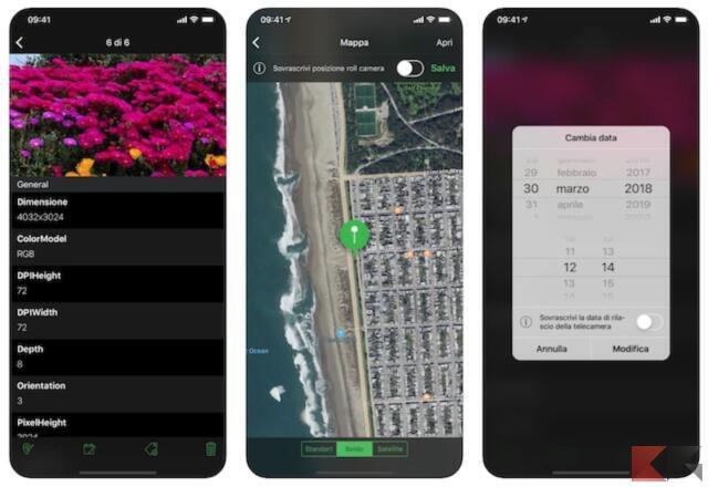 Come cambiare data alle foto su iPhone 3