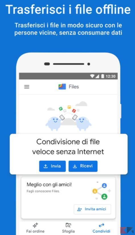 Come trasferire file tra due Android 1