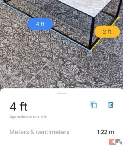 Google Metro: misurare oggetti, mobili e casa con Android 2