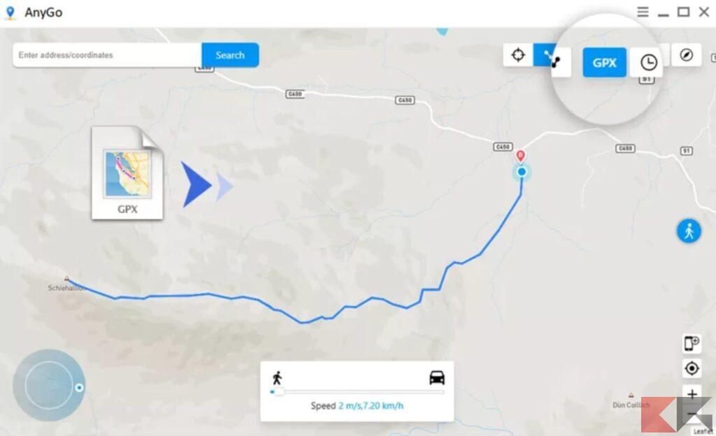 Come cambiare la posizione GPS su iPhone 2