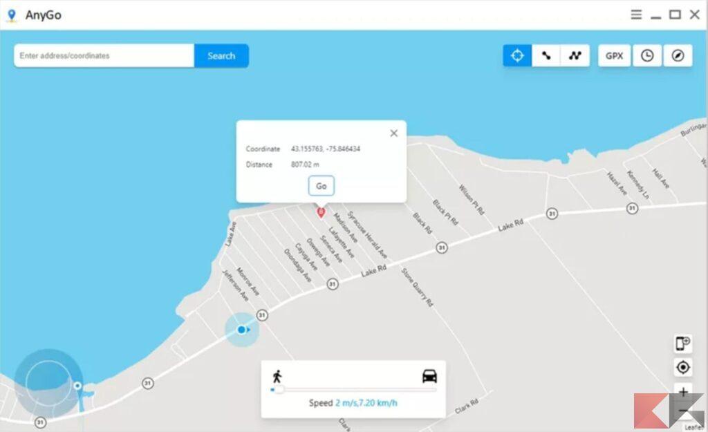 Come cambiare la posizione GPS su iPhone 1