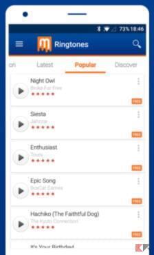 Migliori app e siti per scaricare suonerie su Android 2