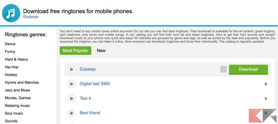 Migliori app e siti per scaricare suonerie su Android 5