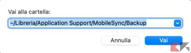 Spostare il backup di iPhone o iPad su un HD o SSD esterno 2