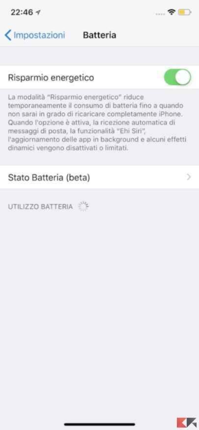 Aumentare la durata batteria iPhone 6