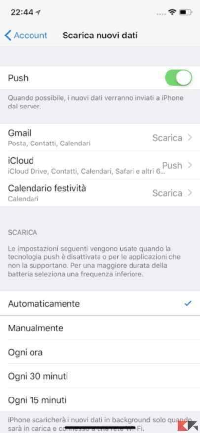Aumentare la durata batteria iPhone 8