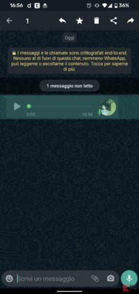 Come convertire un audio WhatsApp in testo
