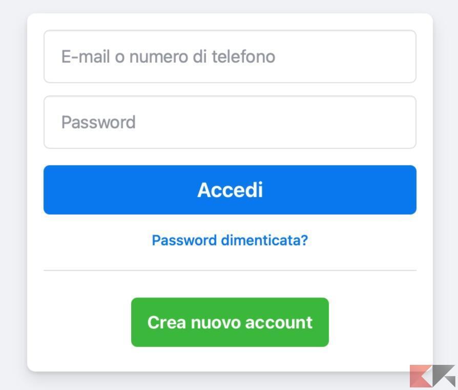 Come recuperare un account Facebook dopo aver perso la password 1