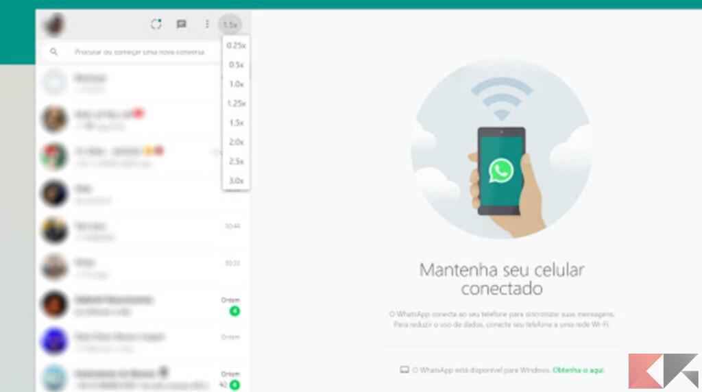 Come velocizzare i messaggi vocali su WhatsApp Web