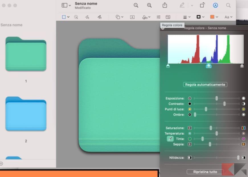 Come cambiare colore alle cartelle su Mac 5