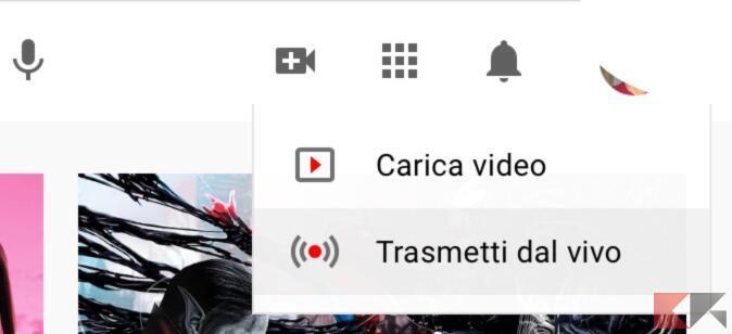 Trasmettere video dirette su YouTube