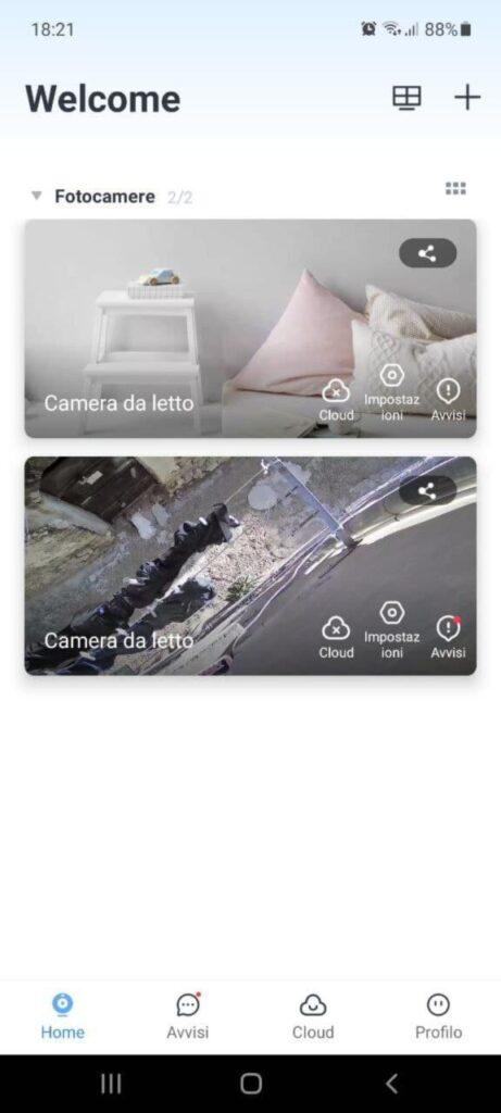Telecamera WiFi CACAGOO