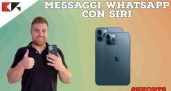 Inviare messaggi WhatsApp con Siri