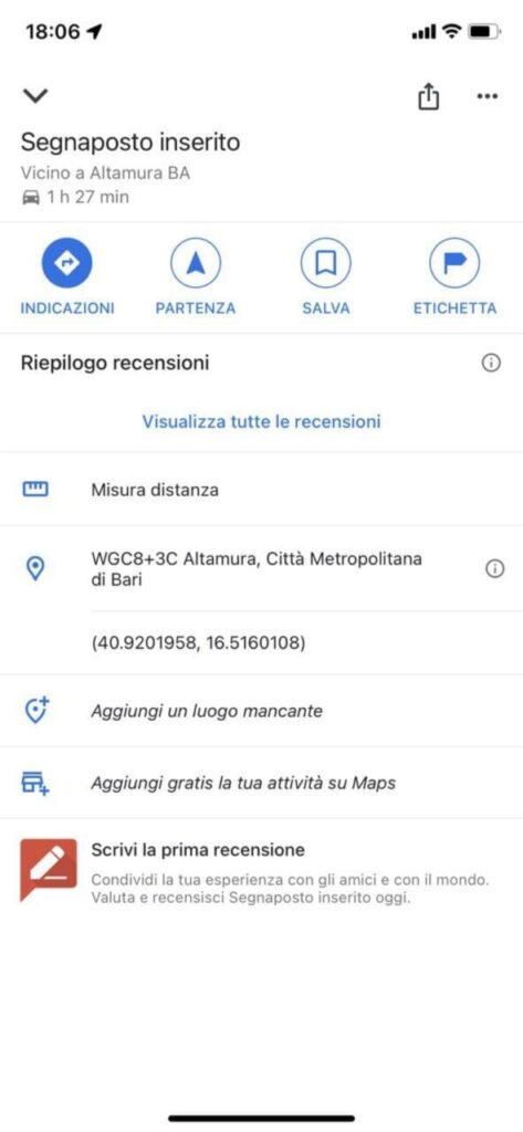 calcolare distanza google maps