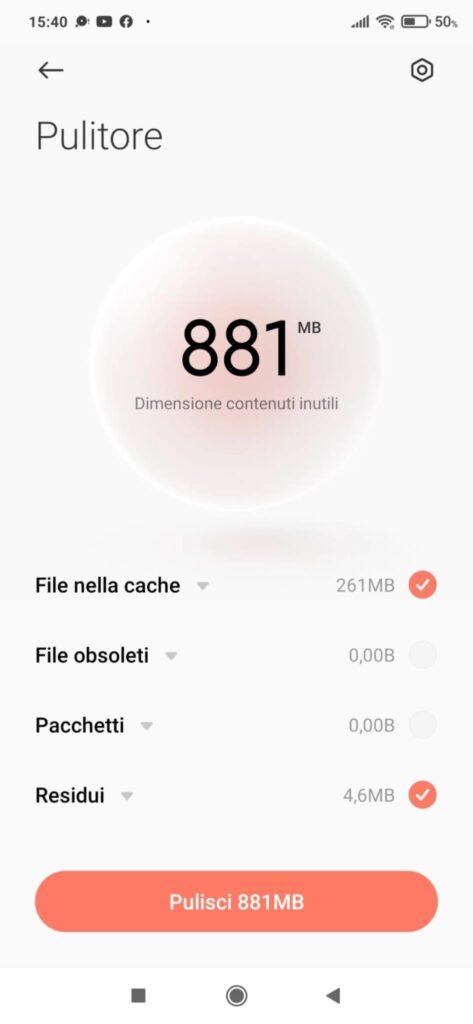 memoria smartphone Android