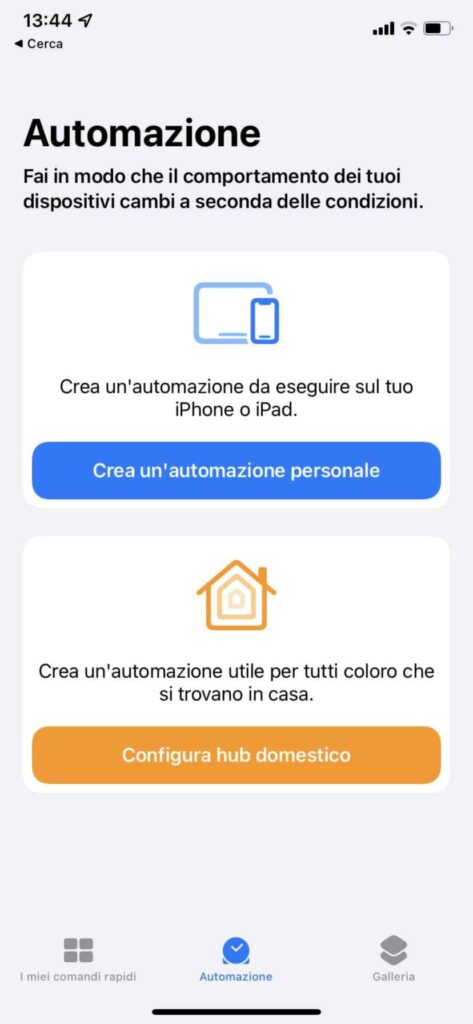 app comandi
