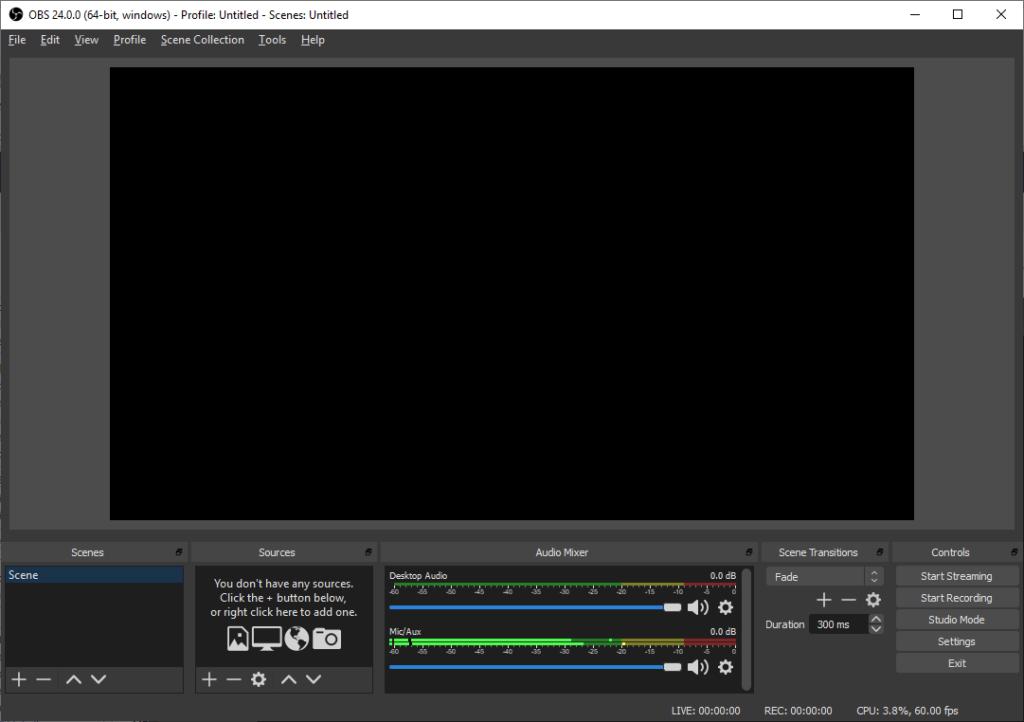 registrare videolezioni con obs