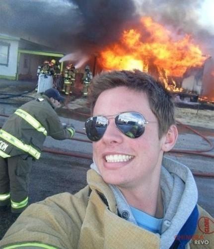 selfie incendio