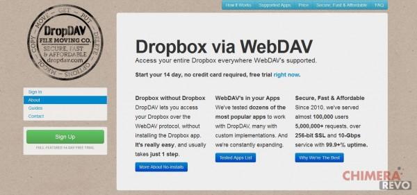 Dropbox come disco di rete