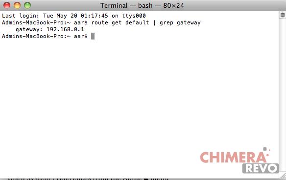 Router IP su Mac